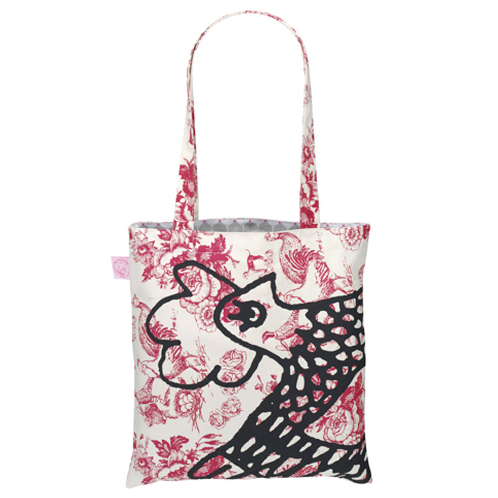 Red Cocotte Toile de Jouy Eco Bag